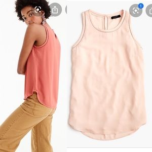 J. Crew Drapey top with ladder trim